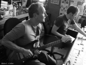 Recording guitar with Phil Collen, Westheath Studios, London.